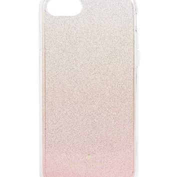 Kate Spade New York Pink Glitter Ombre iPhone 7 / 8 Case, Pink Glitter, iPhone 8