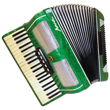 Fine Concert Russian Piano Accordion Atlas / Атлас, 120 Bass 5 + 2 Switches, Musical Instrument, 326
