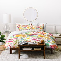 Betsy Olmsted Garden Stain In Day Duvet Cover