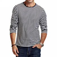 Casual Striped T Shirt Men Long Sleeve Men's T Shirt  Slim Fit Men Clothes Trend  Tops Tees