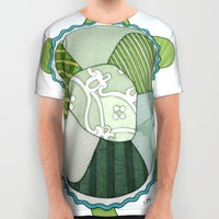 Key Lime Turtle All Over Print Shirt by Erin Brie Art