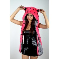 Pink Leopard Animal Hat - Animal Hats - Shop by category