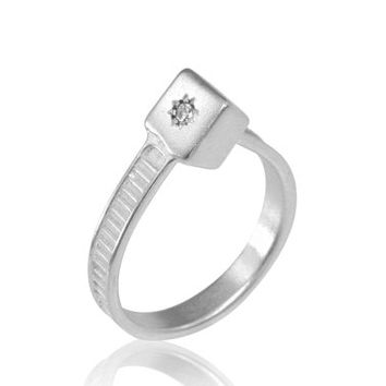 Sterling Silver Cable Tie Ring, Custom Cable Tie Ring