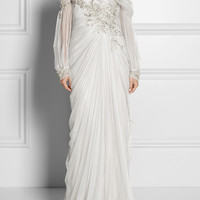 Marchesa | Embellished off-the-shoulder tulle gown | NET-A-PORTER.COM