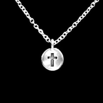 Cross Charm Christian Gift God Faith Religious Necklace