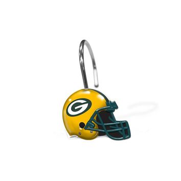 Green Bay Packers NFL Shower Curtain Rings