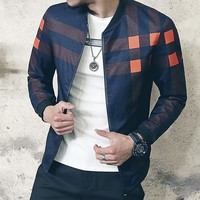 Men's Solid Fashion Coat Up To 5XL