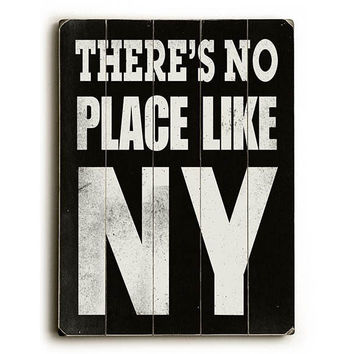 There's No Place Like NY Wood Sign