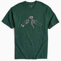Division Of Labor Rose Tee   Urban Outfitters