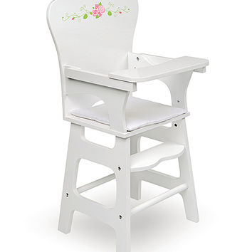 White Rose Doll High Chair