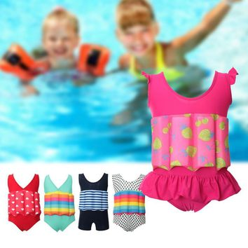 One-piece Girls Boys Buoyancy Vest Float Suit Baby Toddler Child Swimming Aid