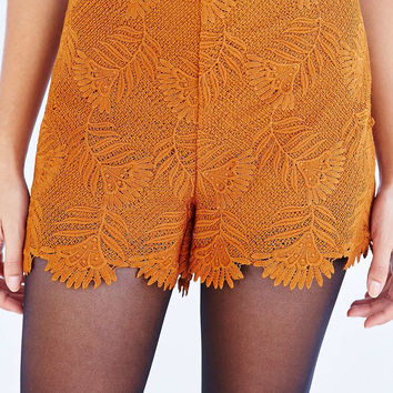 Botanical Lace Pin-Up Short - Urban Outfitters