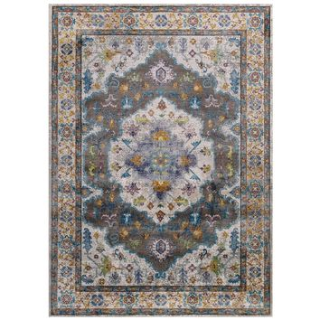 Success Anisah Distressed Floral Persian Medallion 4x6 Area Rug