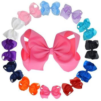 12PCS 6-6.5 Inch Extra Large Ribbon Hair Bows For Teens Girls Women Hairpins Fashion Hair Clip Ladies Hair Accessories