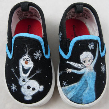 Custom Hand Painted Shoes Toddlers - Frozen
