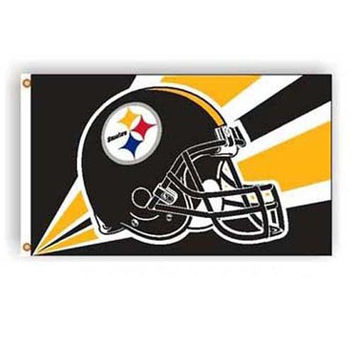 Pittsburgh Steelers NFL Helmet Design 3'x5' Banner Flag