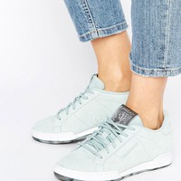 Reebok Npc Ii Sneakers With Guilded Edge In Seaside Gray at asos.com