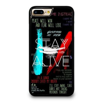 twenty one pilots stay alive iphone 4 4s 5 5s se 5c 6 6s 7 8 plus x case  number 1