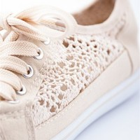 Cute and Quaint Crotchet Sneakers - Beige from Bohemian at Lucky 21 Lucky 21