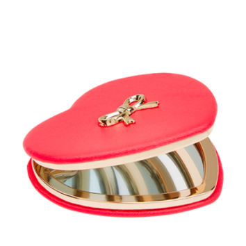 Accessorize | Pu Heart Mirror | Pink | One Size