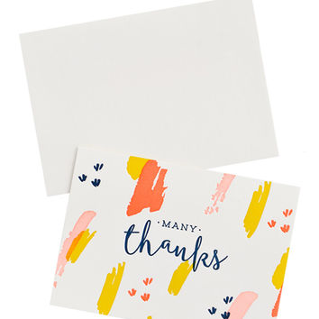 Swatch Stroke Thank You Card Set