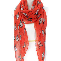 Foxy ! The Red Fox Scarf