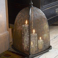 Moorish iron windlight from Lombok