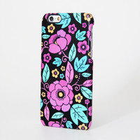 Turquoise Pink Floral Pattern iPhone 6 Plus/6/5S/5C/5/4S/4 Protective Case #254