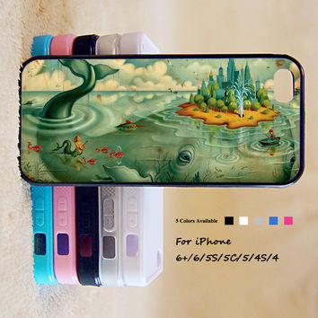 Disney Whale Island Phone Case For iPhone 6 Plus For iPhone 6 For iPhone 5/5S For iPhone 4/4S For iPhone 5C3 iPhone X 8 8 Plus