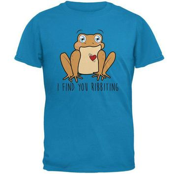 DCCKJY1 Toad I Find You Riveting Funny Pun Valentine's Day Mens T Shirt