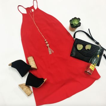 Gameday Ready Dress - Red