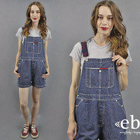 Tommy Overalls Tommy Shortalls 90s Tommy Hilfiger 90s Overalls Denim Overalls Jean Overalls 90s Tommy Jeans Tommy Logo 1990s Overalls L