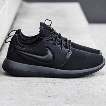 NIKE ROSHE TWO Women Casual Running Sport Sneakers Shoes Black