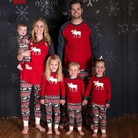 Christmas Pajamas Family Clothing 2017 Family Matching Mother Daughter Father Son Clothes Family Clothing Sets New Year Family L