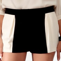Colorblocked High-Waisted Shorts