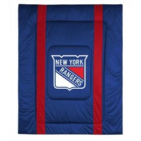 Sports Coverage 05JSCOM5RANQUEN NHL New York Rangers Queen Sideline Comforter - (In No Image Available)