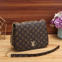 Louis Vuitton LV Women Leather Fashion Chain Crossbody Shoulder Bag Satchel