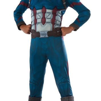 Rubies Costume Captain America Civil War Deluxe Captain America Costume Large