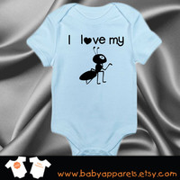 I Love My Aunt Baby Bodysuit, Baby Clothes, Custom Baby Gift, Newborn gift, cute baby bodysuit, Funny baby tee, by BabyApparels.etsy.com