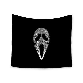 "BarmalisiRTB ""The Scream Tree"" Black White Wall Tapestry"