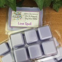 LOVE SPELL Soy Wax Melts - Scented Tarts - Maximum Scented - 100% Natural Soy Wax
