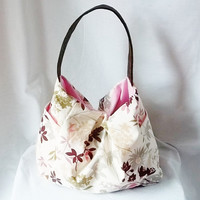 Spring Hobo  Flower print Hobo bag  Customized handbags by ACAmour