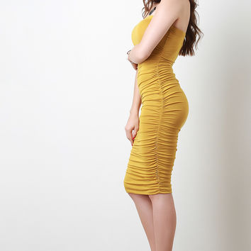 Ruched Sides Tube Dress