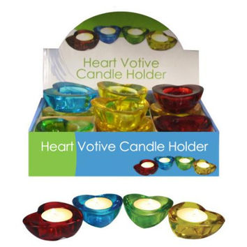 Heart Votive Candle Holder Countertop Display