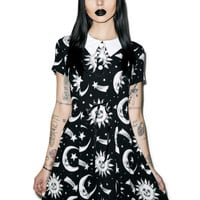Kill Star Cozmic Death Doll Dress Black