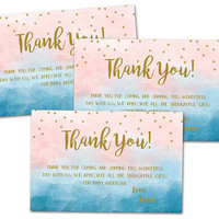 Twinkle Thank You Cards - Twinkle Little Star Baby Shower Thank You Card - Little Star Party Tags - Favor Tags Gender Reveal Neutral Shower