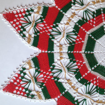 Christmas Star Doily Centerpiece Christmas Table Decor Placemat Linen