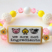 Vegan Vegetarian We are not ingredients by thebagladyboutique1