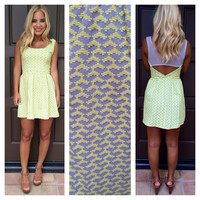South For The Summer Textured Dress - LEMON YELLOW