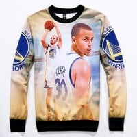 2015 New Arrive men emoji3D print Stephen Curry moment Sweatshirt + jogger Pants Outswear Sport Suit Stephen Curry Sweatshirt Hoodies